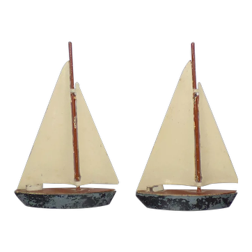 English lead Sail Boats by unknown maker