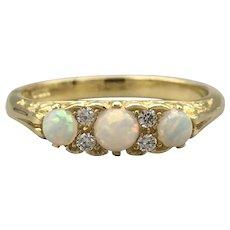 Victorian Style Opal & Diamond Ring