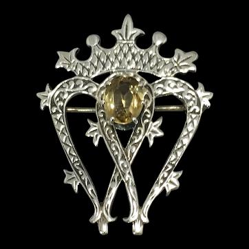 Scottish Silver Luckenbooth Brooch