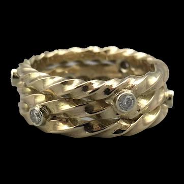 9ct Yellow Gold & Diamond Ring