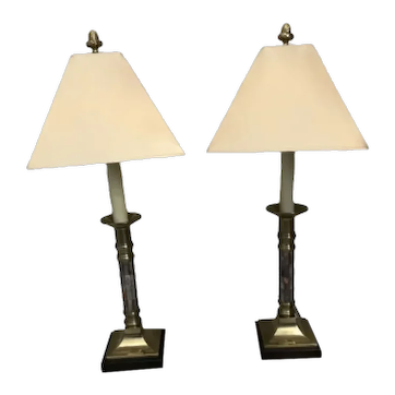 Frederick Cooper Candlestick Lamps