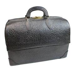 Vintage Leather Doctors Bag / Emdee by Schell