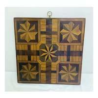 Attractive and Very Graphic Inlaid Game Board