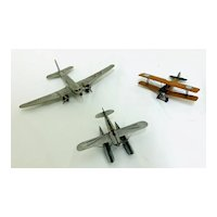 Nice Group of Small Homemade Model Airplanes from the Late 1930's to Early 1940's - Made By Dr. Webster