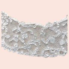 Cream Open Sheer Lace Collar