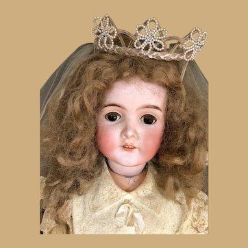 Queen Louise Bisque Doll Armand Marseille Stunning Huge Stature