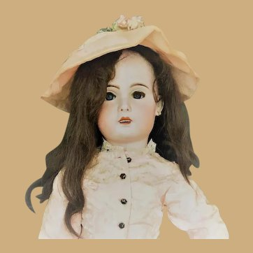 French - 1907 BEBE JUMEAU bisque doll 38 inches tall BREATH TAKING!!!