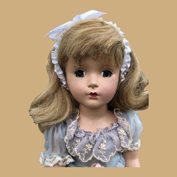 "1940-50s Madame Alexander 14"" Wendy Ann Doll Original Tagged Dress EXQUISITE"