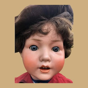 Schoenau & Hoffmeister character boy baby toddler bisque doll magnificent