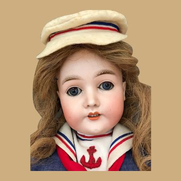Armand Marseille Queen Louise bisque Doll dressed as Marinette