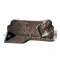 Wood Pipe Shelf with Woman