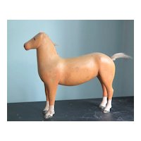 Carved Yellow Horse Toy