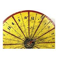 Folk Art Dartboard Wheel