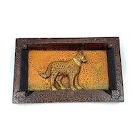 Folk Art Carved Dog Plaque
