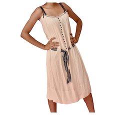 1990's BC BG MAXAZRIA Cream Pure Silk Sundress Dress size S