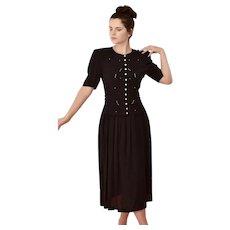 Mid 20th Century , Karin Stevens, Black day dress
