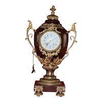 Vintage French Marti Dela Dr. S Diriquen Chantilly Marble Clock Urn Shaped