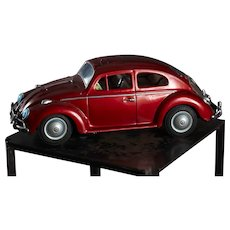 Bandai King Size Battery Operated Volkswagen Beetle 4084 In Original Box