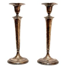 Vintage Pair Of Candlestick Holders