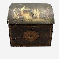 Antique William Crawford & Son toleware Biscuit Box