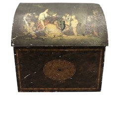 Antique William Crawford & Son toleware Biscuit Box