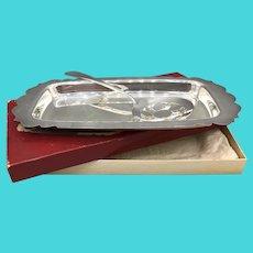 Vintage WM Rogers Silverplate Cranberry Set - Silver Plate Serving Set