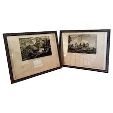 18th Century Black & White French Etchings