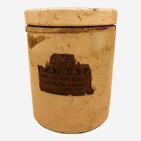 "Rare Antique Mallinckrodt Chemical Works ""Mercuric Nitrate"" Pottery Jar"