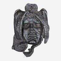 Solid Antique Bronze Moretta Mask
