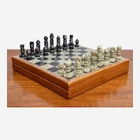 Natural Soapstone Travel Chess Board