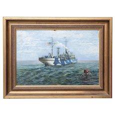 J. McCarthy Painting of USS Agawam, 1921