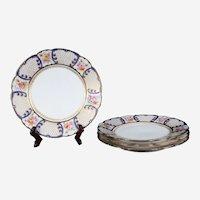 Antique Limoges Porcelain TRESSEMANES & VOGT Salad Plates, Set of Four