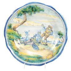 Majolica Style Charger