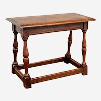 American Joined Oak Low Table in the17th Century Style