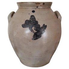 "Salt Glazed Pottery Tall Urn 11"" Late 19th Century"