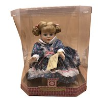 """""""Try To Remember"""" Wind Up Animated Musical Porcelain Doll Collectible NEW IN BOX"""