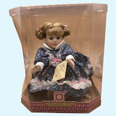"""Try To Remember"" Wind Up Animated Musical Porcelain Doll Collectible NEW IN BOX"