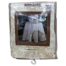 """Sherry Kline 54"""" Table Topper with 4 Tassels NEW IN BOX"""