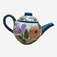 ORIGINAL, SIGNED, LESAL Floral Teapot by Lisa Van Nortwick Hand-Painted
