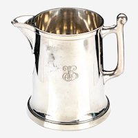 Monogrammed 1883 F.B. ROGERS Silver Plate Hollowware Pitcher