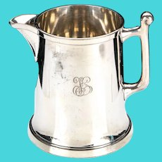 Monogrammed 1883 F.B. ROGERS Silver Plate Hollow ware Pitcher
