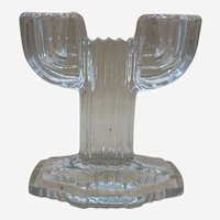 "Vintage Depression Glass ""Queen Mary"" Candle Holder from Hocking"