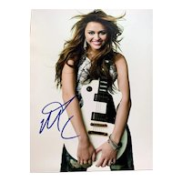 Miley Cyrus Signed Autograph 8x10 w/ Certificate of Authenticity