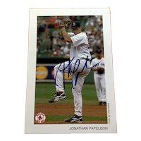 Jonathan Papelbon Signed Boston Red Sox 4x6 Photo