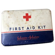 Old Emergency Case First Aid Kit No. 16 Johnson and Johnson Rare