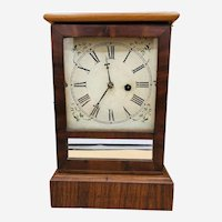 Antique Working 1860's WATERBURY CLOCK CO. Cottage Mantel Clock