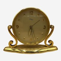 Vintage Art Deco Imhof 15 Jewel 8 Day Swiss Movement Desk or Table Clock