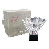 Orrefors Orion Crystal Contemporary Decorative Bowl in Clear