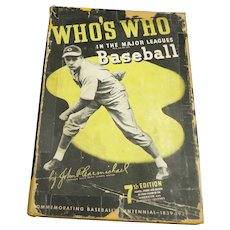 1939 Who's Who in the Major Leagues BaseballL- 7th Edition Hardcover