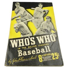 1938 Who's Who in the Major Leagues Baseball - 8th Edition - Paperback